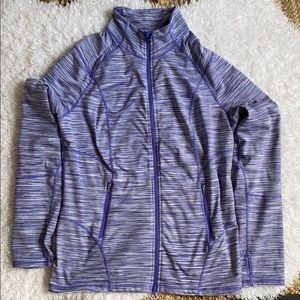 ZELLA Purple Zip Up Athletic Jacket XL